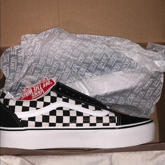 Vans Shoes Old Skool Black White Checkered Platform Poshmark